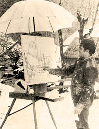 Bittar painting on Hautes Savoie in 1982